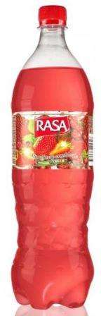 Carbonated drink RASA FRUT  Strawberry - Cranberry taste, 1,25 L