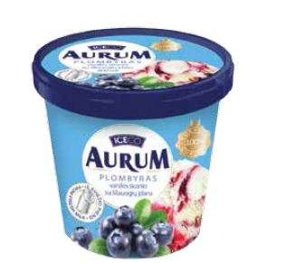 AURUM vanilla premium  ice cream with blueberry filling  800ml