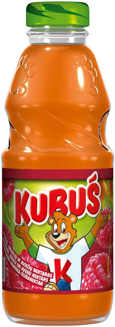 KUBUŠ 0.3 L raspberry-apple-carrot juice in glass