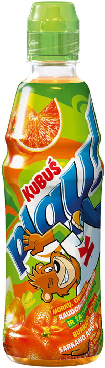 0.4L various fruits drink KUBUŠ PLAY