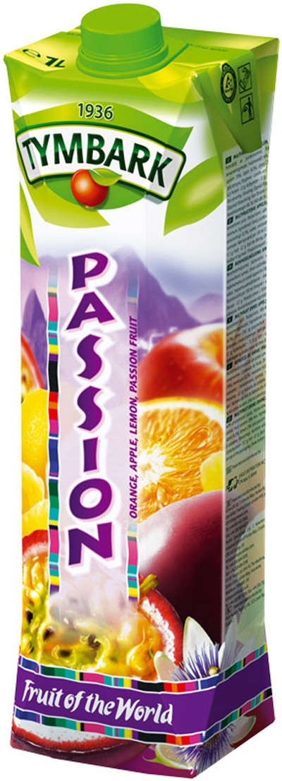 Passion fruit-orange-lemon-apple drink 1L TYMBARK