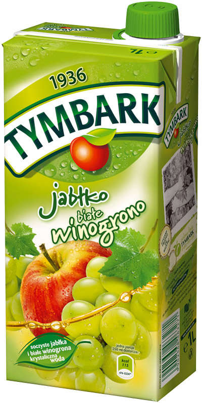 1L green grape-apple drink TYMBARK