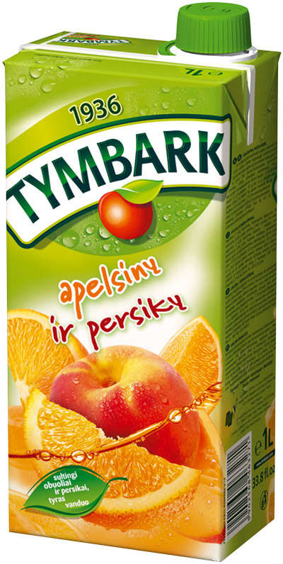 Orange-peach drink 1L TYMBARK