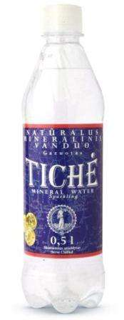Sparkling natural mineral water TICHĖ, 0,5L