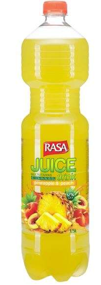 Rasa Juice Drinks  Pineapple-peach, 1,5L