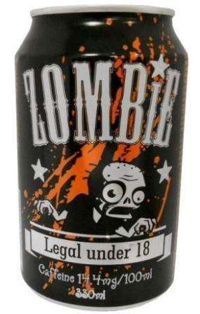 Carbonated drink with caffeine ZOMBIE, 0,33L