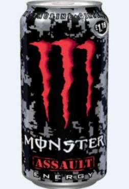 Energy drink Monster assault 0,5 L can