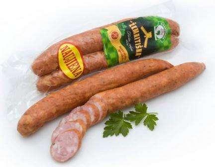 Hot smoked sausage Žemaitiška, 400 g in vacuum