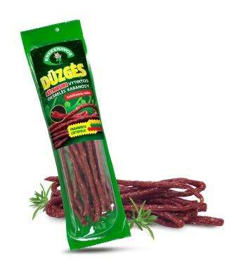 "Dried sausages with chilli ""Kabanosy  Dūzgės"" (m.a. 100g)"