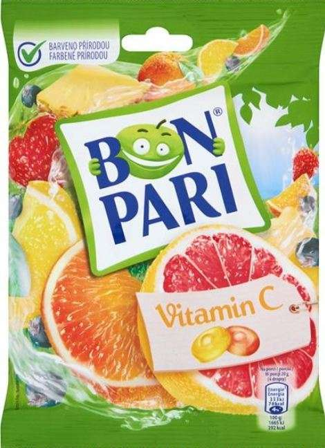 Caramel BON PARI® Fruit with vitamin C 90g