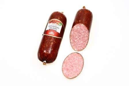 """Hot smoked sausage """"Lietuviškas saliamis"""" 360 g, unit"""