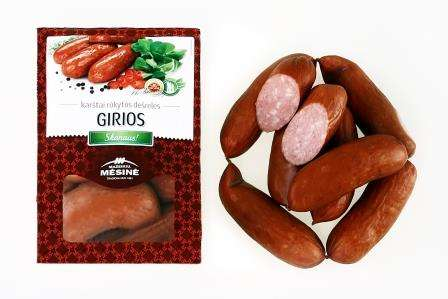 "Hot smoked small sausages ""Girios"", KG"