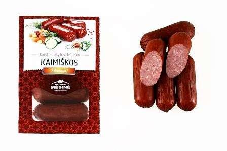 """Hot smoked small-sausage """"KAIMIŠKOS"""", KG"""