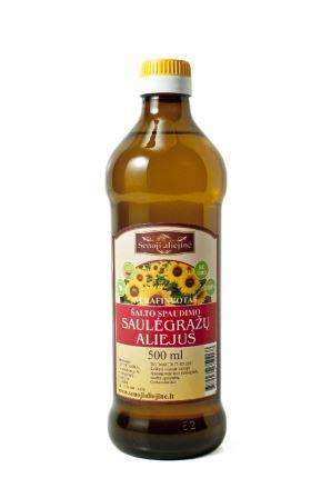 Cold pressed sunflower oil, 500 ml