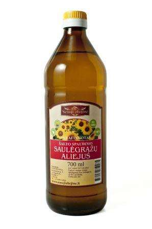 Cold pressed sunflower oil, 750 ml