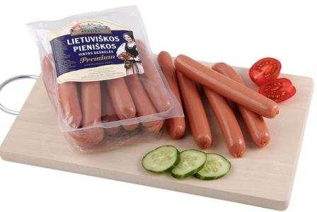 Cooked sausages'' Lietuviškos pieniškos'' ~500g