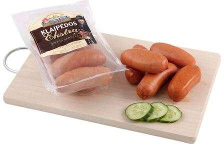 Cooked sausages ''Klaipėdos ekstra''  ~700g