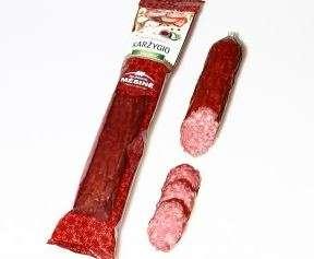 """Cold smoked sausage """"KARŽYGIO"""" DEŠRA 190g, unit"""