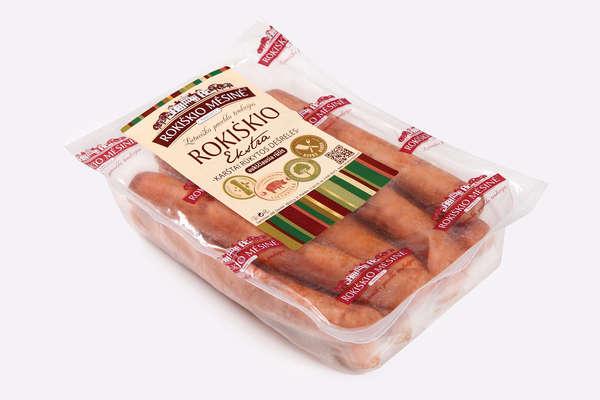 ROKIŠKIO EKSTRA sausages, ~0,5 kg(duj) KG