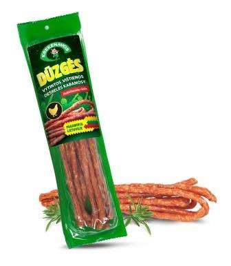"Dried sausages with chicken ""Kabanosy  Dūzgės"" (m.a. 100g)"