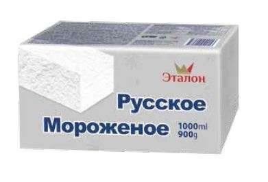 ETALON vanilla flavoured ice cream 1000 ml