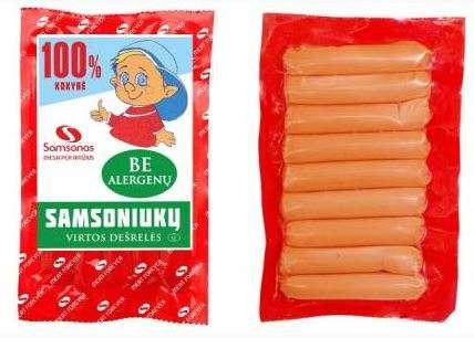 "Frankfurters ""Samsoniukų"" 210gr"