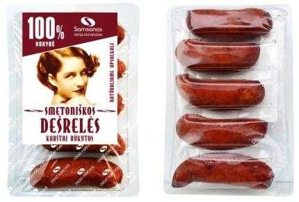"""Smoked sausages """"Smetoniškos"""" 280gr"""