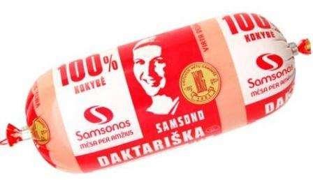 """Cooked sausage """"Samsono daktariška""""  330 gr"""