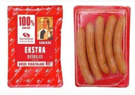 "Cooked frankfurters ""Samsono Ekstra"" ~800g"