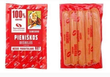 "Cooked frankfurters ""Samsono pieniškos"" ~800g"