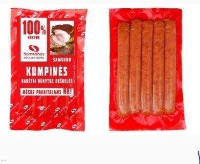 "Hot smoked sausages ""Samsono kumpines"" (with ham) 240g"