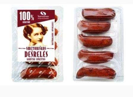 """Hot smoked sausages """"Smetoniškos"""" ~800g"""