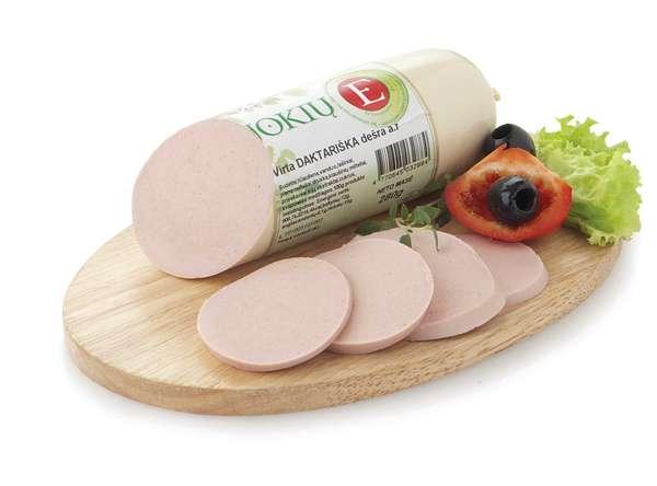"Boiled sausage ""Jokių E"" high quality, 280g"