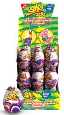 Chocolate egg AHA ZOO, 20g