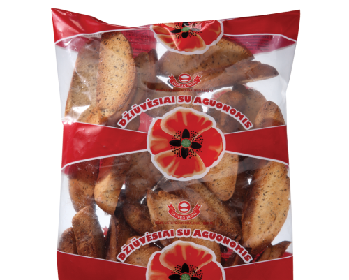 Rusks flavored with poppies, 0,25kg