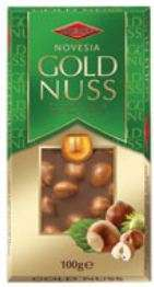 Milk Chocolate GOLD NUSS with whole hazelnuts, 100g