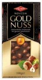 Black Chocolate GOLD NUSS with whole hazelnuts, 100g
