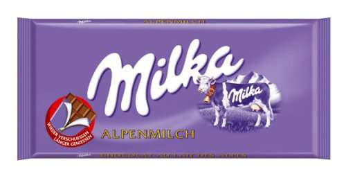 Chocolate MILKA Alpine Milk, 100 g