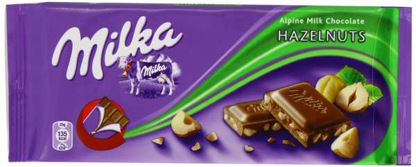 Chocolate MILKA Whole Hazelnut, 100 g
