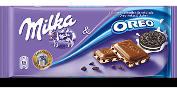 Chocolate MILKA Oreo Choco, 100 g