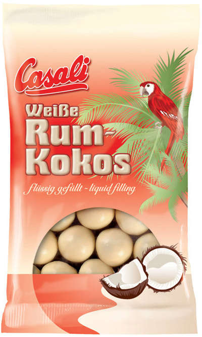 100g white chocolate sweets made with rum and coconut CASALI