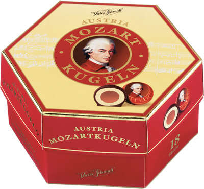 Stuffed with marzipan 297g box of chocolates MOZART
