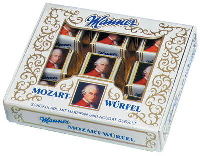 120g Sweets of chocolate with nuts marcipan stuffed MOZART