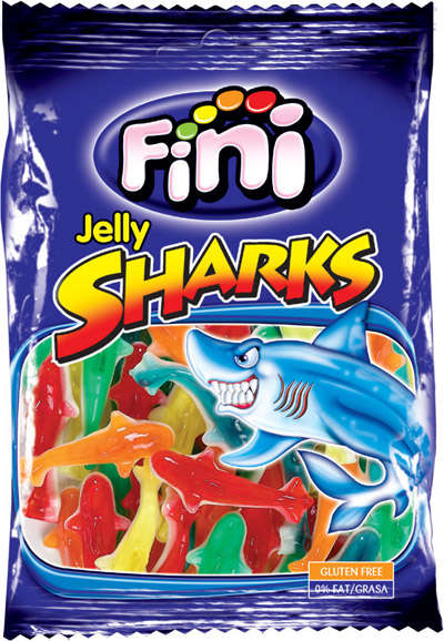 Sharks 100g candy gum FINI