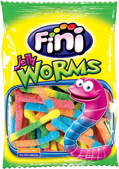 Sour worms 100g FINIBOOM