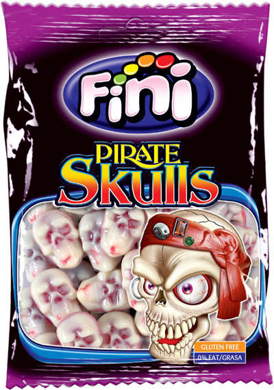 Pirate skulls 100g candy gum FINIBOOM