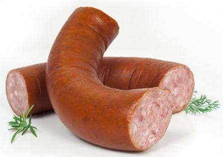 "Hot smoked sausage ""Bajorų"""