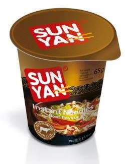 Instant noodles ''Sun Yan'' beef flavour, 65g