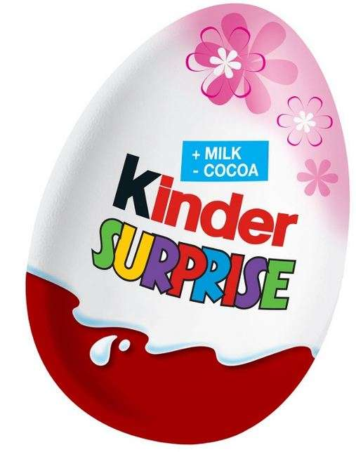 KINDER SURPRISE Chocolate egg (pink) 20g