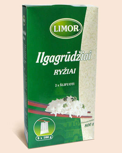 Long-grain rice Limor box 8x100 gr.